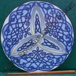 Celtic Art Therapy - A Mindfulness Tool - Blue Trinity Knot