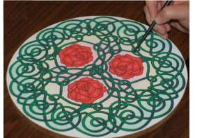 Celtic Art Therapy - A Mindfulness Tool Tracing Roses